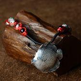 毛衣鍊 民族風苗銀-古典小魚生日情人節禮物女項鍊73hf70【時尚巴黎】