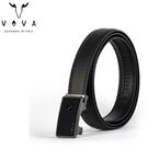 【橘子包包館】VOVA 真皮 商務紳士鋼琴鏡面自動扣皮帶 VA004-001-GU 鎢鋼色