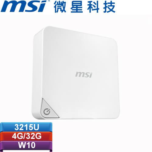 MSI微星 Cubi-W3215U4G03X10MB 迷你電腦