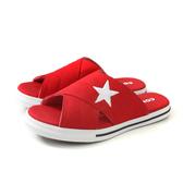 CONVERSE One Star Slide 拖鞋 帆布 交叉拖 紅色 女鞋 565528C no309
