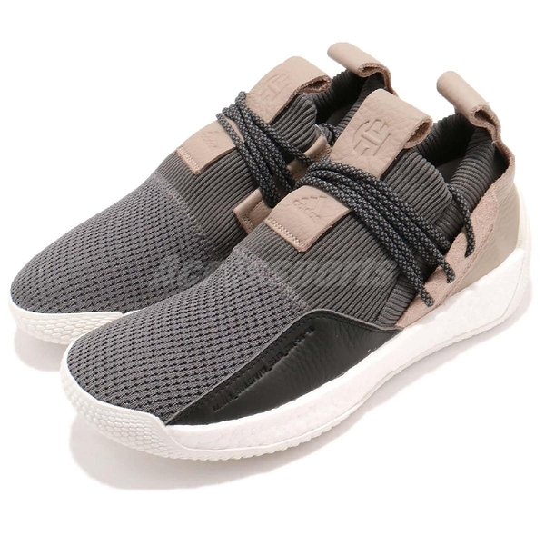 adidas 籃球鞋 Harden LS 2 Lace 灰 卡其 BOOST中底 休閒支線鞋款 哈登 男鞋【ACS】 B28170