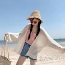 海邊度假防曬衣針織開衫女夏薄款Chic慵懶學院外套空調衫寬鬆外搭 小時光生活館