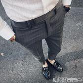 西裝褲 男士9九分褲修身小西褲韓版休閒西裝褲子男潮流彈力小腳西服褲子 瑪麗蘇