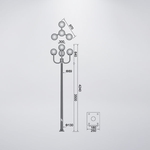 3U戶外景觀燈 防水型 可客製化 可搭配LED