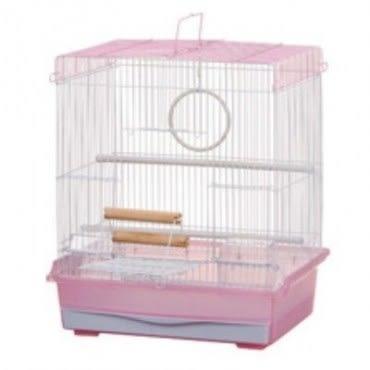 MARUKAN 方形鳥籠(粉色) MB-103 x 1入