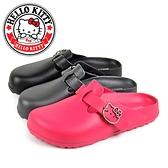 N-27170 凱蒂貓水鑽飾釦輕量防水前包後空拖鞋/穆勒鞋【HELLO KITTY 】