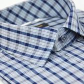 【金‧安德森】深藍格紋窄版短袖襯衫