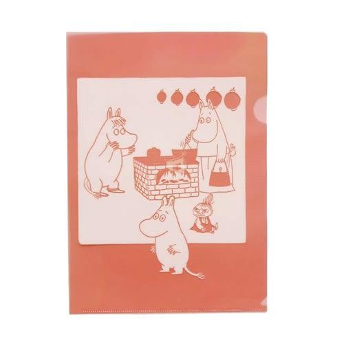 MOOMIN嚕嚕米日本製半透明水果色A4文件夾(蜜桃粉)★funbox★Gakken_GK18589