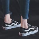 帆布鞋ins帆布鞋女學生韓版原宿ulzzang板鞋新款休閒平底百搭情侶鞋 99
