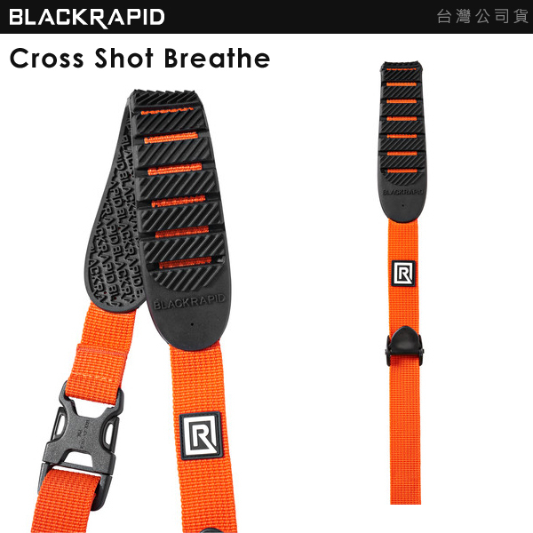 EGE 一番購】BlackRapid 新版快攝手【Cross Shot Breathe 橘色】穿越快手快速背帶【公司貨】
