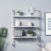 墻上置物架壁掛式墻壁面書架一字擱隔板北歐簡約實木層板臥室客廳