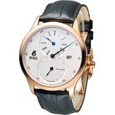 Ernest Borel 依波路 雋永三針一線機械腕錶 GGR8880R1-28651BK 玫瑰金色