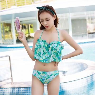 比基尼|泳衣|三件式-時尚碎花自然清新女泳裝-3色73mb12【時尚巴黎】