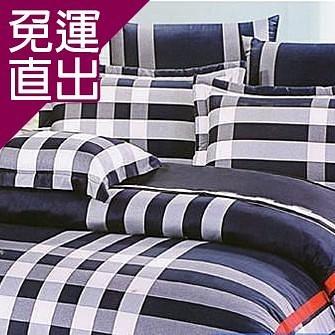 名流寢飾 100%純棉標準雙人床包組-品味格調【免運直出】