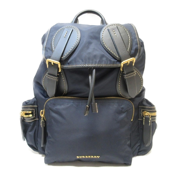 BURBERRY 巴寶莉 藍色尼龍後背包 Medium Runway Rucksack Backpack 【BRAND OFF】