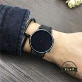 手錶男學生韓版簡約女錶時尚潮流男錶個性創意  ~黑色地帶