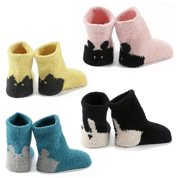 寶寶襪 加厚珊瑚絨 兔子貓咪 嬰兒襪 童襪 防滑襪 地板襪 0-4歲 CA1760 好娃娃