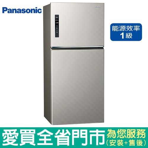 預購-(1級能效)Panasonic國際650L雙門變頻冰箱NR-B659TV-S(銀河灰)含配送到府+標準安裝【愛買】