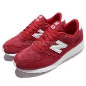【五折特賣】New Balance 復古慢跑鞋 NB 420 紅 白 休閒鞋 麂皮 基本款 男鞋【PUMP306】 MRL420SRD