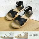 涼鞋 交叉繞踝寬版涼鞋 MA女鞋 T0338