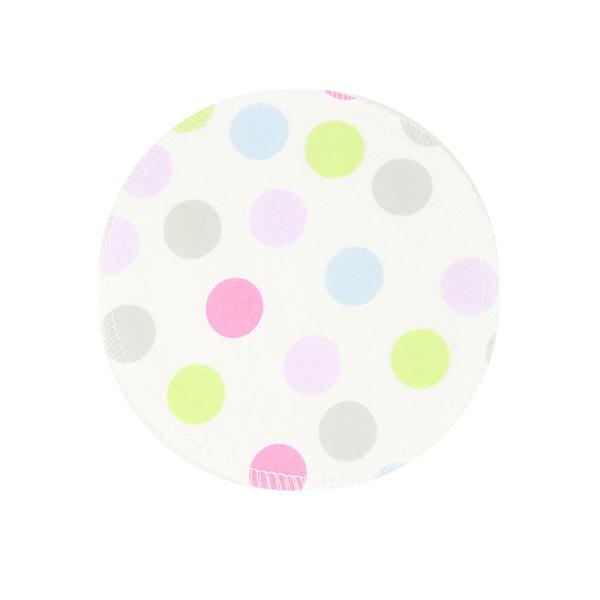 BabyPark 美國Mothers Lounge Breast Pad 可洗式環保溢乳墊-彩色圓點(一組四入)