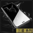 【萌萌噠】三星 Galaxy A32 A42 (5G) 電鍍鏡面智能支架款保護殼 直立式休眠功能側翻皮套 手機套