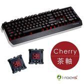 [富廉網] 【i-Rocks】K60M 全背光鋁合金 機械式電競鍵盤 黑色 Cherry茶軸