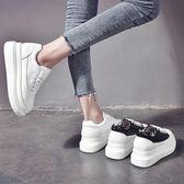 厚底鞋 小白鞋女厚底增高春款百搭春季韓版鬆糕鞋學生內增高女鞋 BBJH