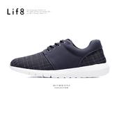 MIT。格紋織布。除臭鞋墊。異材質太空運動鞋-黑色【09492】