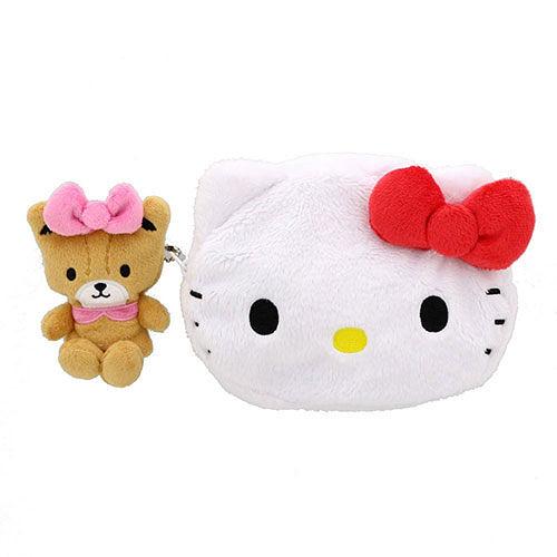 【震撼精品百貨】Hello Kitty_凱蒂貓~Sanrio HELLO KITTY大臉造型絨毛收納包(好朋友)#54966