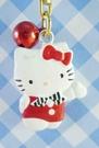 【震撼精品百貨】Hello Kitty 凱蒂貓~KITTY鈴鐺鑰匙圈-黑領結