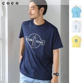 男T恤 短袖t恤 印花上衣 海軍風 上衣 現貨 免運費 日本品牌【coen】