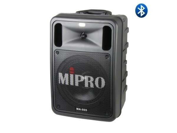 嘉強 MIPRO MA-505 精華型手提式無線擴音機(含CD及USB播放座.藍芽.兩支手握式麥克風)