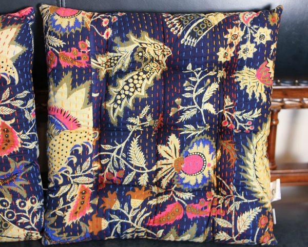 手工縫線方坐墊