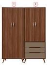 【森可家居】米蘭5尺組合衣櫃(2.5尺雙...