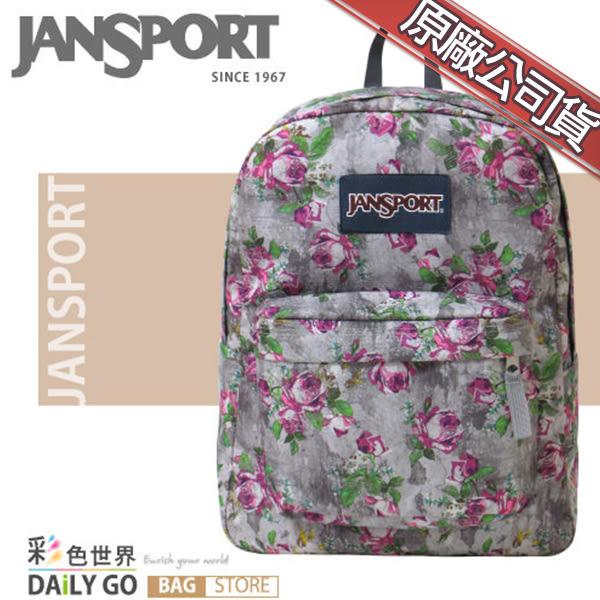 JANSPORT後背包包帆布包大容量JS-43501-0KL花漾灰