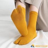 女士兩指襪二趾襪日本木屐襪春夏中筒襪純棉五指高筒可愛分趾襪子【勇敢者】