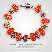手鍊 串珠-琉璃飾品紅色熱情生日情人節禮物女配件2款73ay113【時尚巴黎】