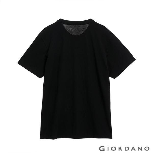 【GIORDANO】 男裝Hope印花T恤 - 11 標誌黑