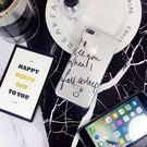 【SZ25】iPhone7/8 plus手機殼 黑白英文字母笑臉  iPhone 6s plus手機殼 iPhone 6/7手機殼