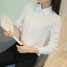 特惠大尺碼!新款韓版職業襯衫女2020秋裝上衣長袖修身面試正裝通勤工裝襯衣潮