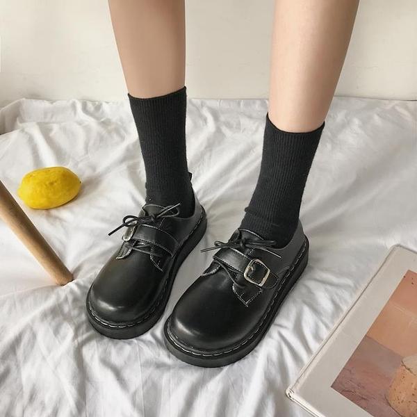 牛津鞋 jk小皮鞋女英倫風2021秋新款日系大頭鞋原宿風復古女學生百搭單鞋 歐歐