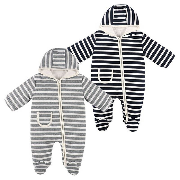 冬季厚款保暖三層棉分腳連身衣(50-70碼) 包腳連身衣 寶寶保暖衣 保暖童裝【GD0146】