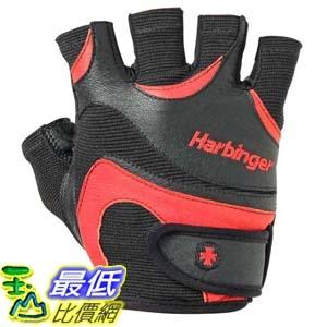 [106美國直購] Harbinger Men s FlexFit Weightlifting Gloves with Flexible Cushioned Leather Palm Pair