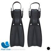 【Float Club】潛水蛙鞋 - 雙排水孔 (黑)