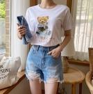[預購+現貨]韓國-熊坐地球T(2色)-上衣-74002630 -pipima-53
