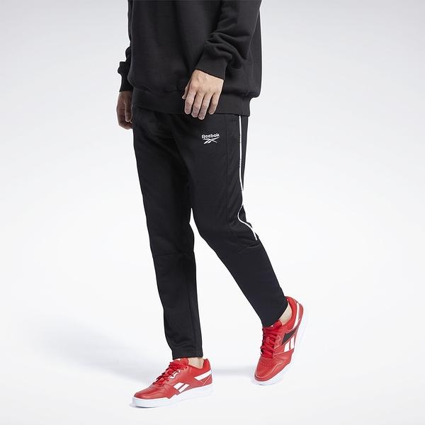 REEBOK CL F LINEAR TRACKPANTS 男裝 長褲 訓練 休閒 側袋 黑【運動世界】GJ6125