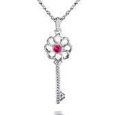 項鍊+925純銀 鑲鑽吊墜-簡約鑰匙生日情人節禮物女飾品4色73fh2【時尚巴黎】