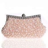 珍珠晚宴包-鑲鑽時尚婚禮派對女手拿鏈條包3色71as8【巴黎精品】