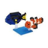 【日本KAWADA河田】Nanoblock迷你積木-小丑魚&藍刀鯛 NBC-118